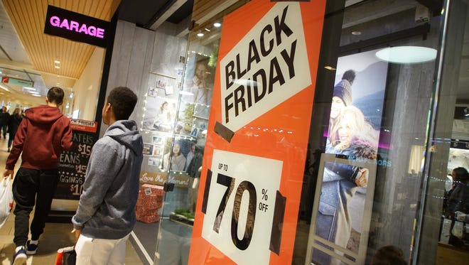 Black Friday shoppers were out looking for early morning deals at the Christiana Mall.