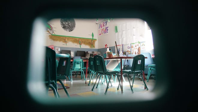 Anthony Rodriguez, a former employee of Kidz Ink II, a day care in Bear, was discovered inappropriately kissing a child in this classroom in 2015.
