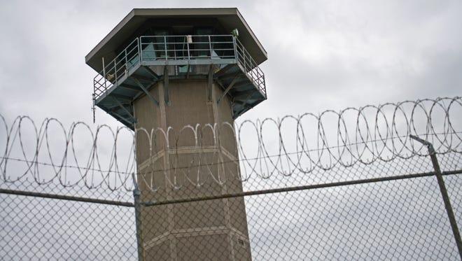 A security tower at Jame T. Vaughn Correctional Center.