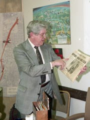 Lafayette mayor James Riehle shows off a 1958 from