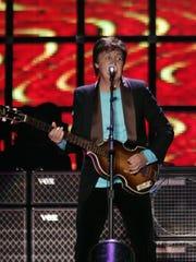 Paul McCartney performing at Wells Fargo Arena in 2005.