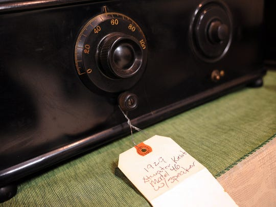 A 1929 Atwater Kent Model 46 radio at the Oregon Electric Railway Museum at Antique Powerland on Monday, February 16, 2015, in Salem. The radios will be auctioned off on Saturday, February 28.