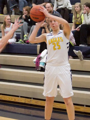 Lexey Tobel led the Eagles with 15 points in Thursday night's win.