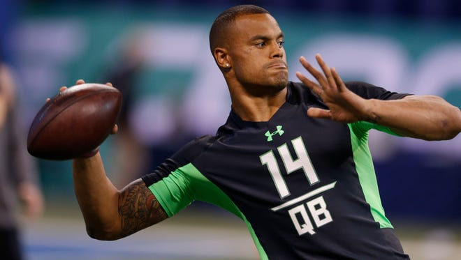 Former Mississippi State quarterback worked with Jon Gruden in preparation for the NFL Draft.