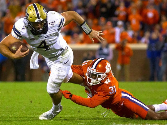 Nathan Peterman threw for 308 yards and five touchdowns in Pitt's upset of Clemson last November.