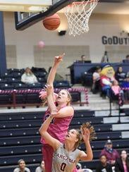 The Dutchmen's Lexie Lantz delivered a game high 18