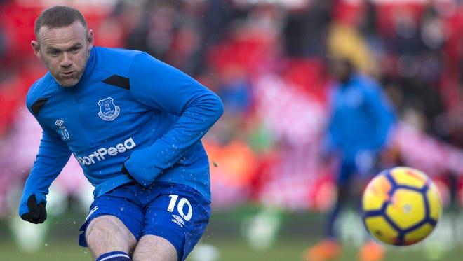 Wayne Rooney led Everton with 10 goals scored last season.