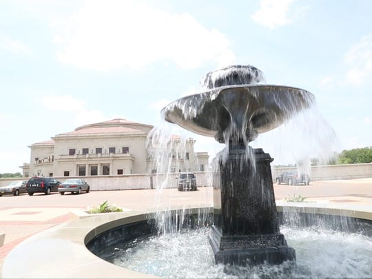 A fountain adds to the ambience at Carmel City Center, Tuesday, June 17, 2014.