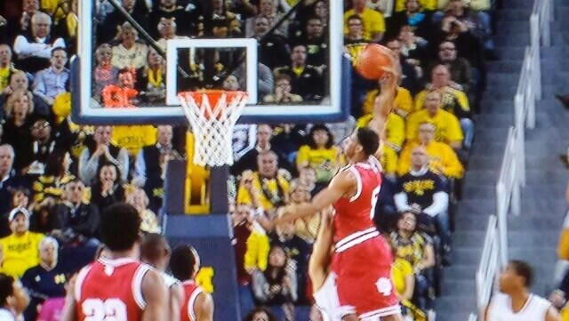 Troy Williams' dunk in a game vs. Michigan.