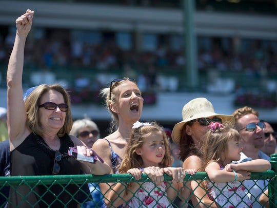 Crowds filled Monmouth Park on Father's Day 2016 to