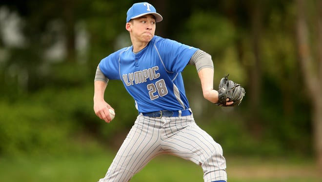Olympic's Chase Matheny and the Trojans are one victory away from securing a state tournament berth.