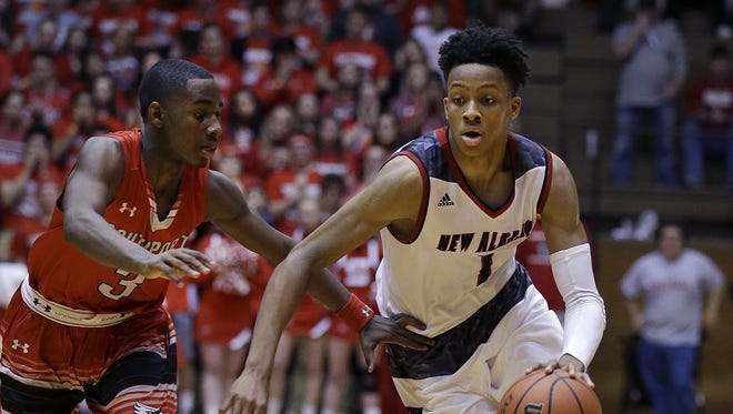 Romeo Langford (right) and New Albany will face North Central in a can't-miss affair Dec. 10 at Southport.