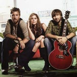 Lady Antebellum includes Dave Haywood, Hillary Scott and Charles Kelley. The group performs at Bethel Woods Center for the Arts, on the Woodstock site in Sullivan County, June 1.