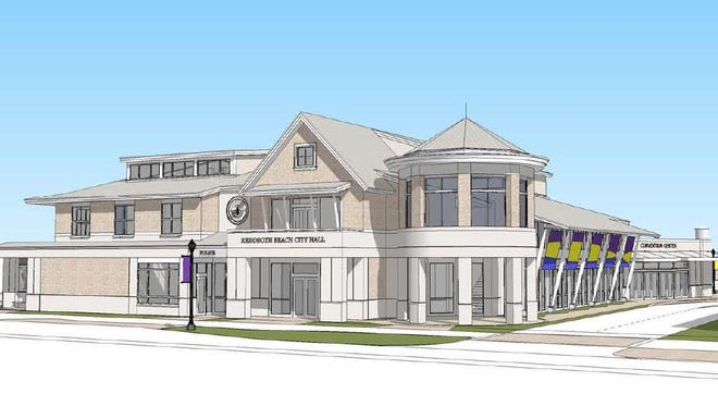 A rendering of the design for Rehoboth Beach's new city hall complex.