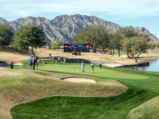 Golfers on the Stadium Course during the first round of the CareerBuilder Challenge on Thursday, January 18, 2018 in La Quinta, CA