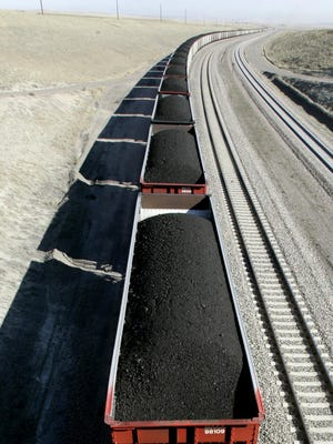 City Utilities buys its coal from mines in the Powder River Basin, which lies in Wyoming and Montana, and has it shipped by rail to Springfield. An empty coal car passing through Springfield during rush hour Thursday delayed commuters.