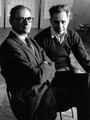 Arthur Miller with director Elia Kazan, his collaborator