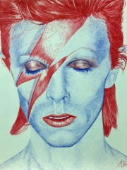 'David Bowie (Aladdin Sane)' by Aaron Perry
