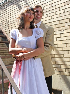 "Brittany Santos stars as Maria and Justin Luciano is Tony in Cortland Repertory Theatre's production of ""West Side Story."""
