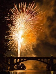 Tim Senft of Hallam submitted this photo of the fireworks finale in Wrightsville taken from south of the Veterans Memorial Bridge.
