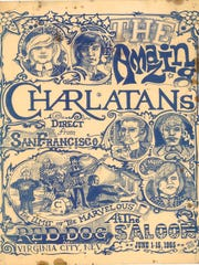 "This poster promoting a concert by the Charlatans is featured in the ""Technicolor Dreaming: Psychedelic Posters from the Rock and Roll Hall of Fame"" show at the Farmington Museum at Gateway Park."