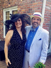 Kentucky Derby party hosts Sarah and Keith Solsvig.