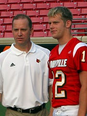 Brian Brohm, right, was coached by brother Jeff Brohm