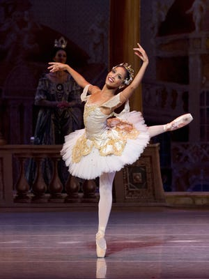 "Kayla Rowser as Princess Aurora in Nashville Ballet's 2012 production of ""The Sleeping Beauty."""