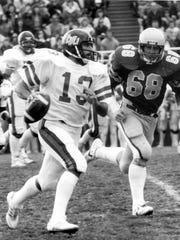 Mark Fellows had 23 quarterback sacks in 1984 and finished