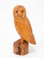 Barn owl woodcarving in cedar by David Frykman, whose work will be featured in the Holiday Open House on Nov. 24 and 25 at Frykman Studio Gallery in Sister Bay.