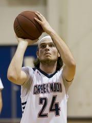 Above: Creek Wood's Garrett Dolinich at the free throw line.