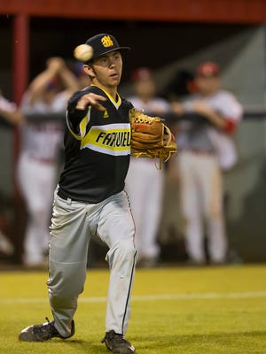 Fairview High sophomore Ryan Sullivan pitches for a win over Creek Wood April 24, 2018.
