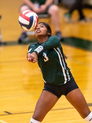 Taylor libero Dede Strait, making a return against Giddings in early August, hopes to study at the University of Texas or Sam Houston State and major in criminology and sociology.