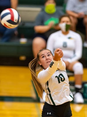 Taylor's Aniston Silverthorn, returning a shot against Giddings in August, doled out 13 assists in the Ducks' come-from-behind win over Florence last week.