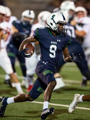 Jarvis Anderson runs the ball for McNeil in a game last season. Now playing for his hometown of Taylor, Anderson led the Ducks past Giddings Friday.