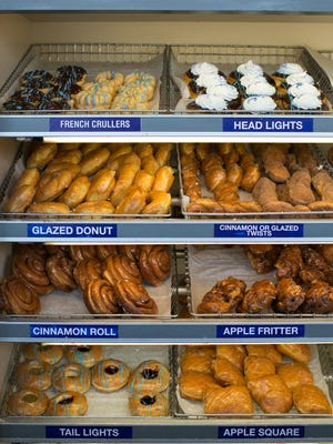 A selection of donuts at Ridge Donut Cafe in Irondequoit.