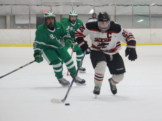 Trevor Cear (25) had three goals and an assist in Jackson