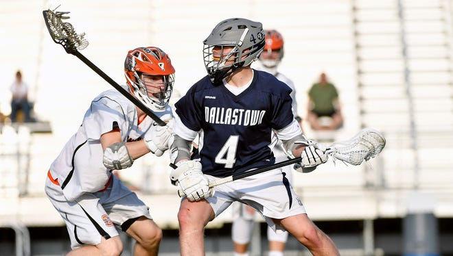Dallastown's Braven Morris drives against Central York in the second half of a YAIAA boys' lacrosse game Friday, April 13, 2018, at Central York. Central York defeated Dallastown 10-8 to maintain the Panthers' so-far undefeated season record.