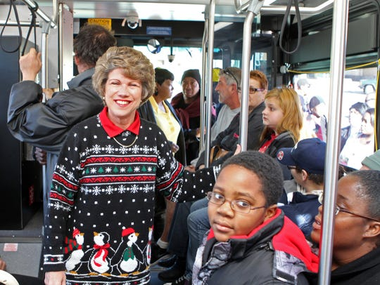 Mayor Kim McMillan boarded a CTS bus bound for Radical
