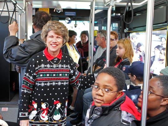 Mayor Kim McMillan boarded a CTS bus bound for Radical Mission's 8th Annual Warm Souls event on Christmas Eve.