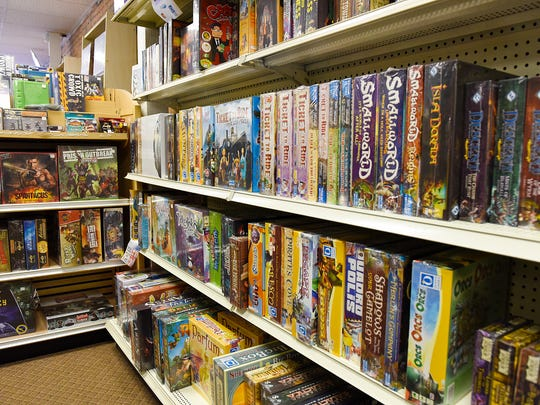 Shelves are full of games at Paddy's Game Shoppe in St. Cloud in this 2017 Times photo.