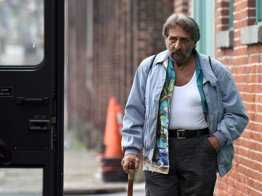 "Actor Al Pacino is seen on Spruce Street in Paterson, N.J during filming of ""The Irishman"" on Sept. 17."