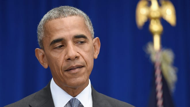 President Obama holds a press conference about the recent bombing in the New York region at the Lotte New York Palace Hotel in New York Monday.