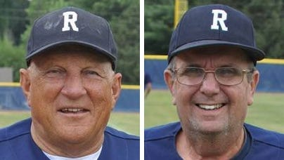 Rockport American Legion baseball coaches Jim Haaff (left) and Bob Snyder (right) have won more than 1,000 games together dating back to 1966.