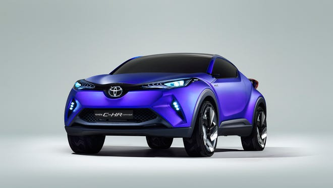 Toyota H-CR concept shown at 2014 Paris auto show could provide design cues for the 2016 Toyota Prius