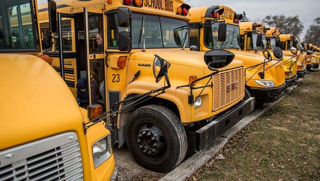 Muncie school buses.