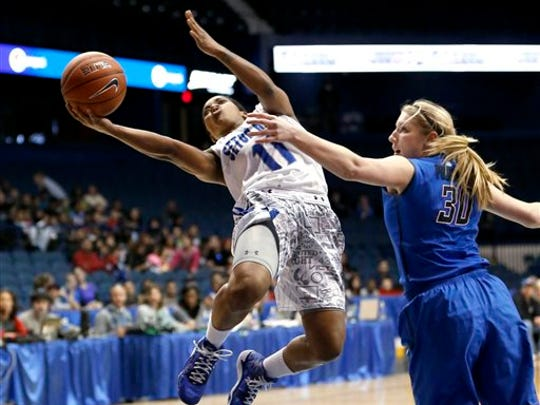 Seton Hall redshirt senior guard Ka-Deidre Simmons (11) was recruited by one head coach and played for two others.