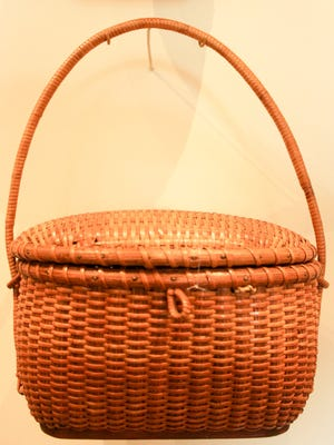 Nantucket is most famous for whaling and its classic baskets. This one is historc and in the collection of the Whaling Museum.