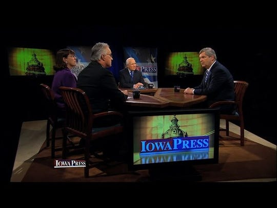 "Former Iowa Gov. Tom Vilsack appears on IPTV's ""Iowa Press."""