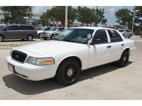 A 2008 Ford Crown Victoria police car